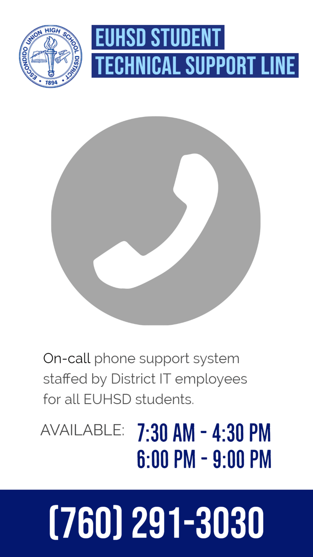 EUHSD Support Line